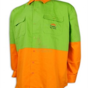 D295  Deliver to  Tampines North  Making long sleeve contrast industrial uniform